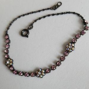 Dainty RHINESTONES & Black Bracelet